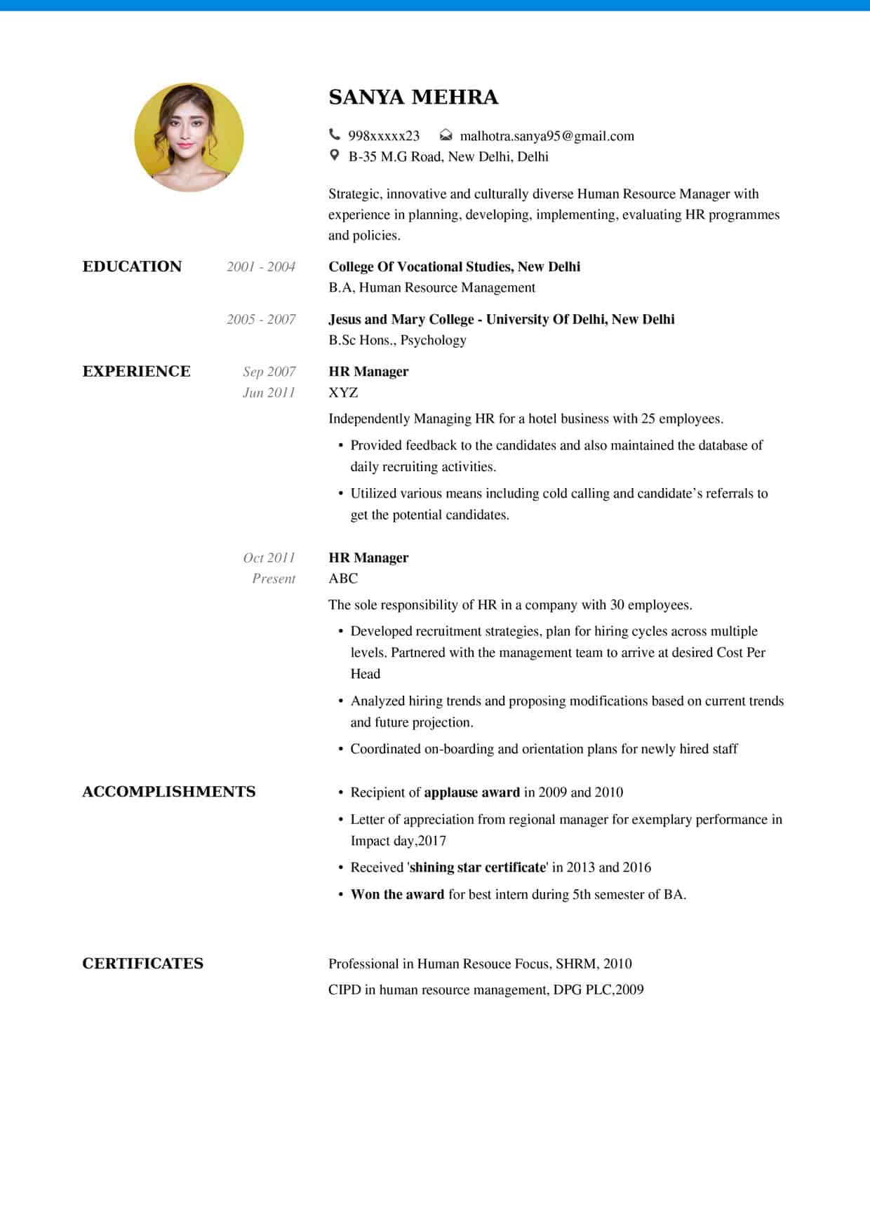 resume 2 - What Should My Resume Look Like