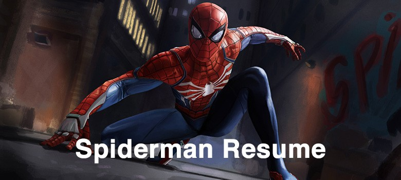 Spiderman-resume-example