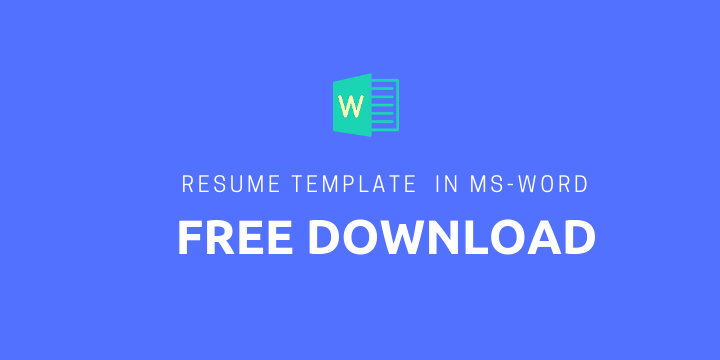 Resume Template Word Free Download Executive