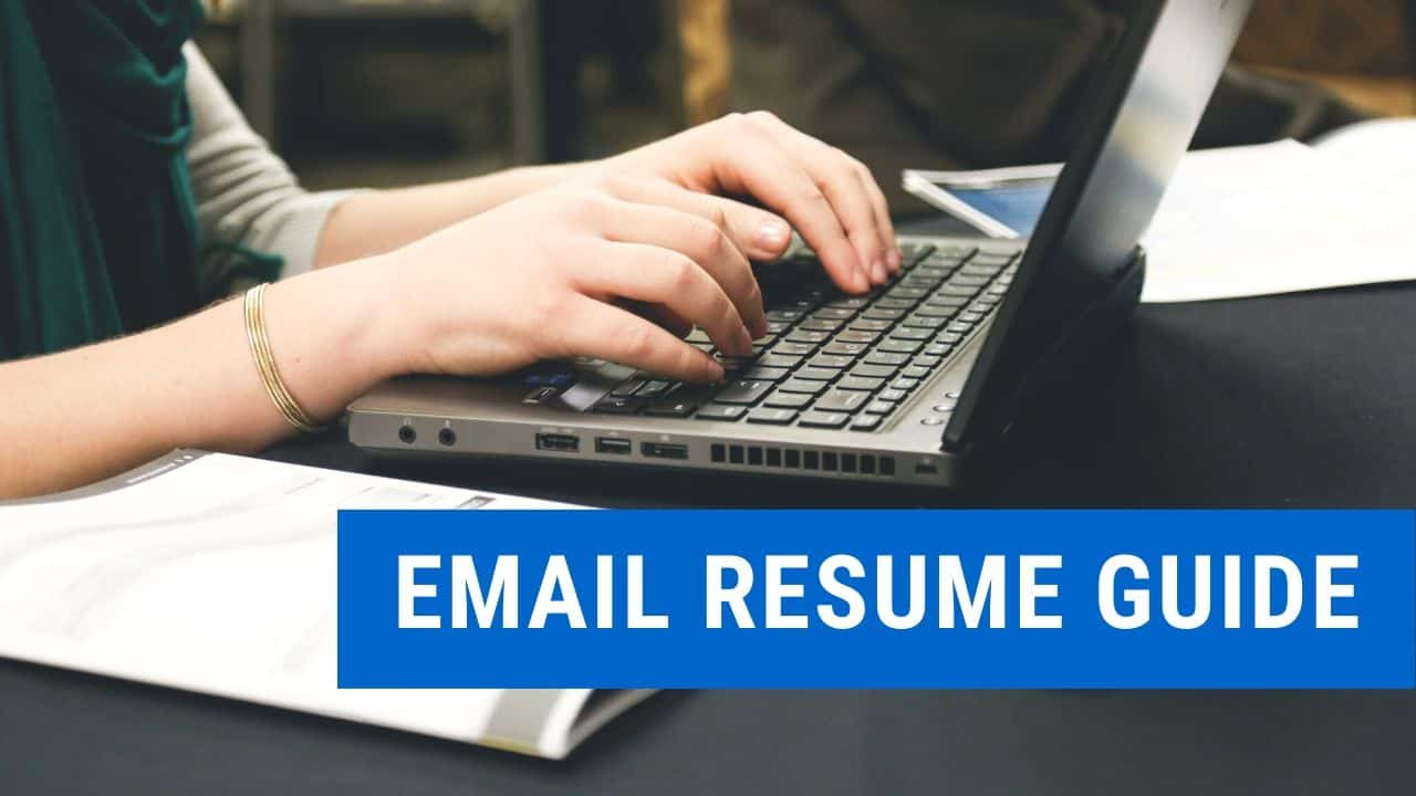 write in an email when sending a resume