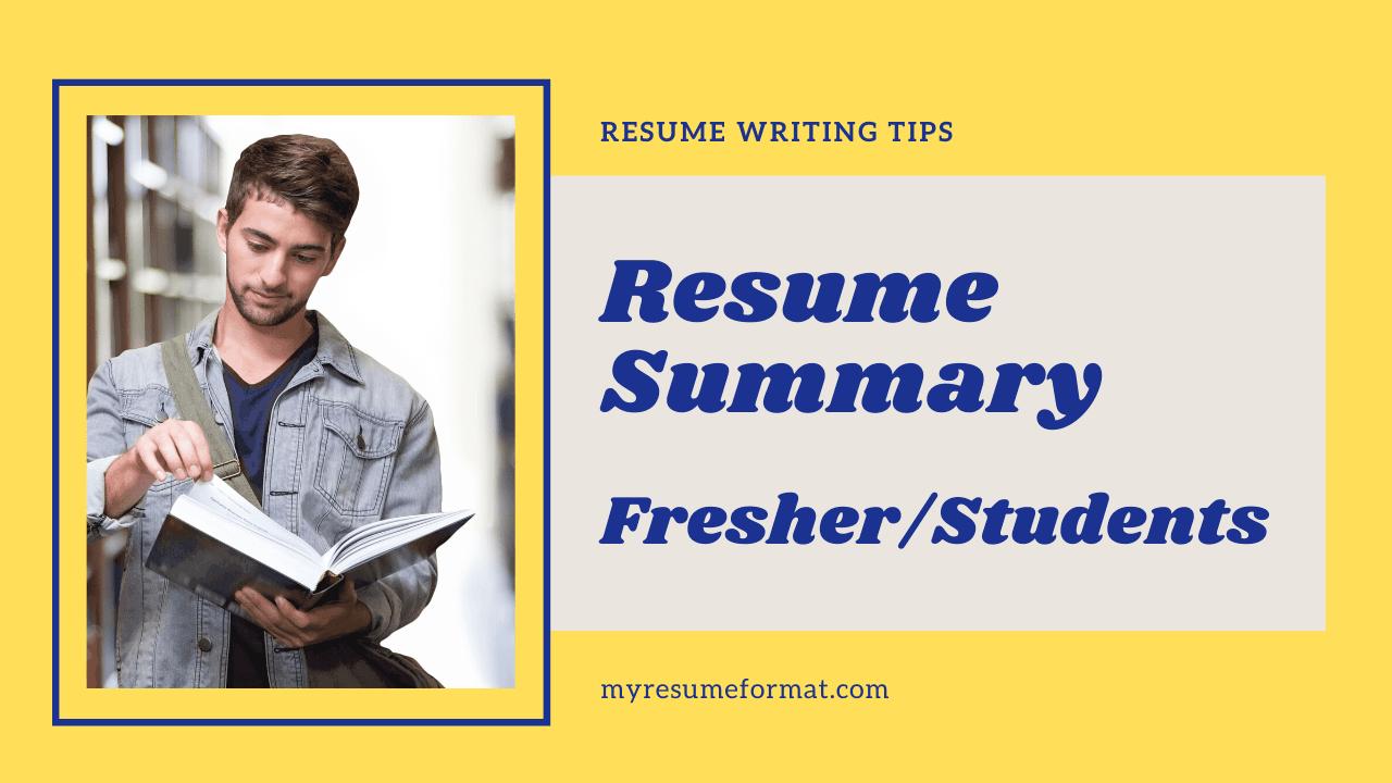 Resume Summary student