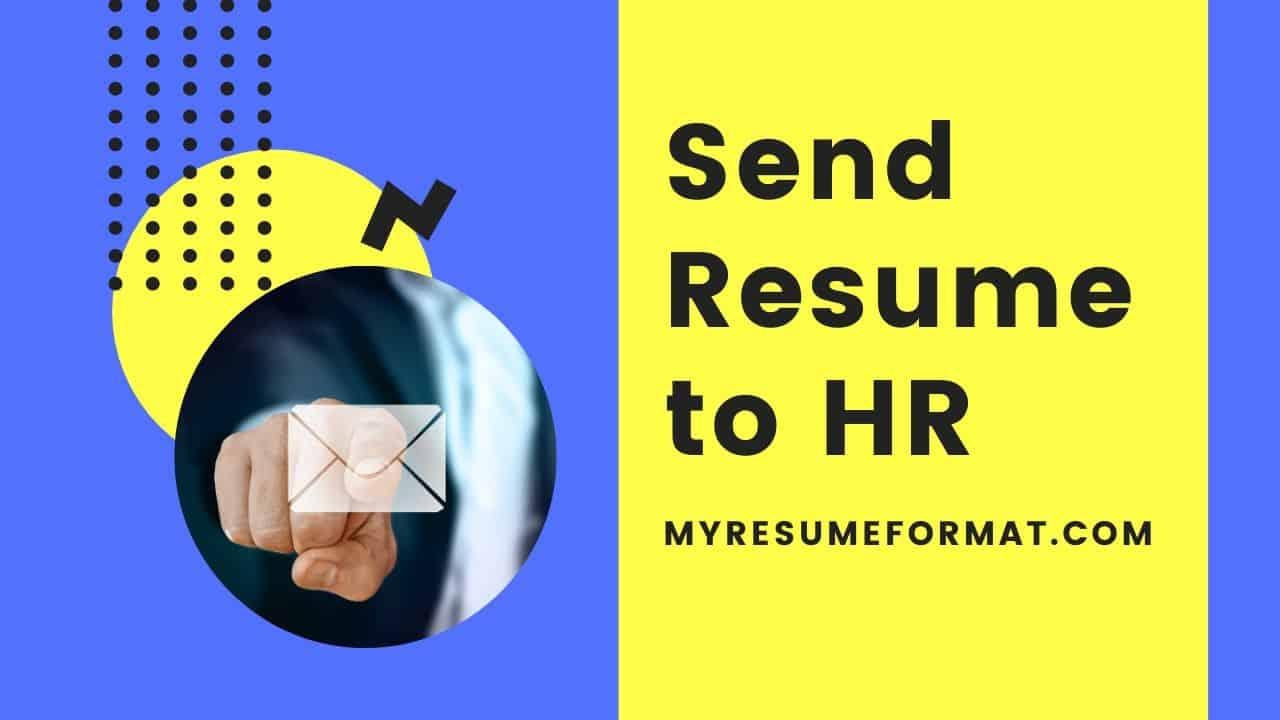 Send Resume to recruiter