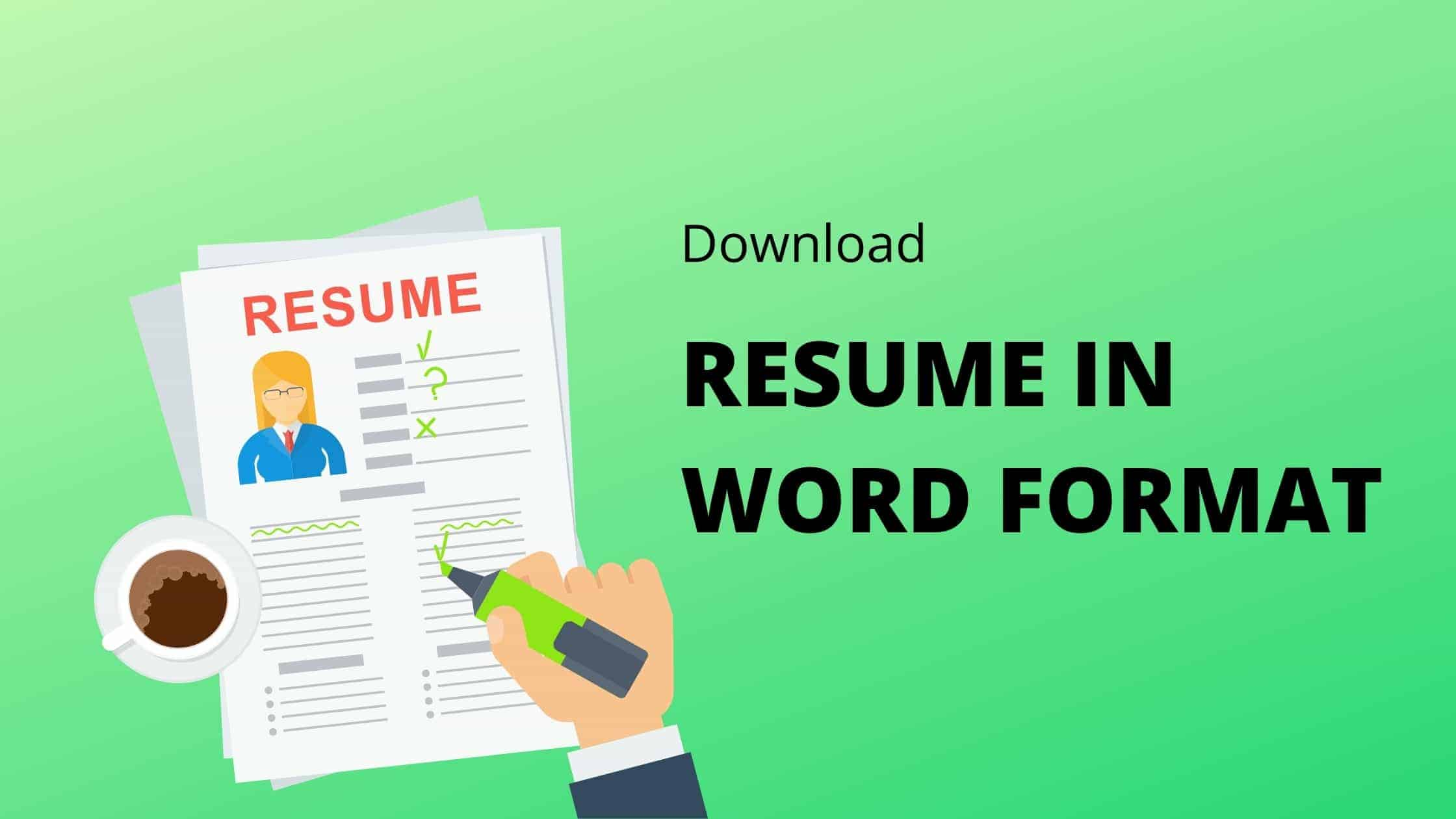 Download free resume templte word file