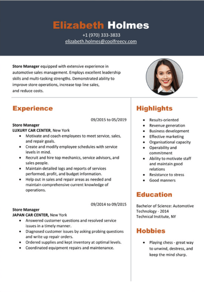 free resume template example download ms word resume