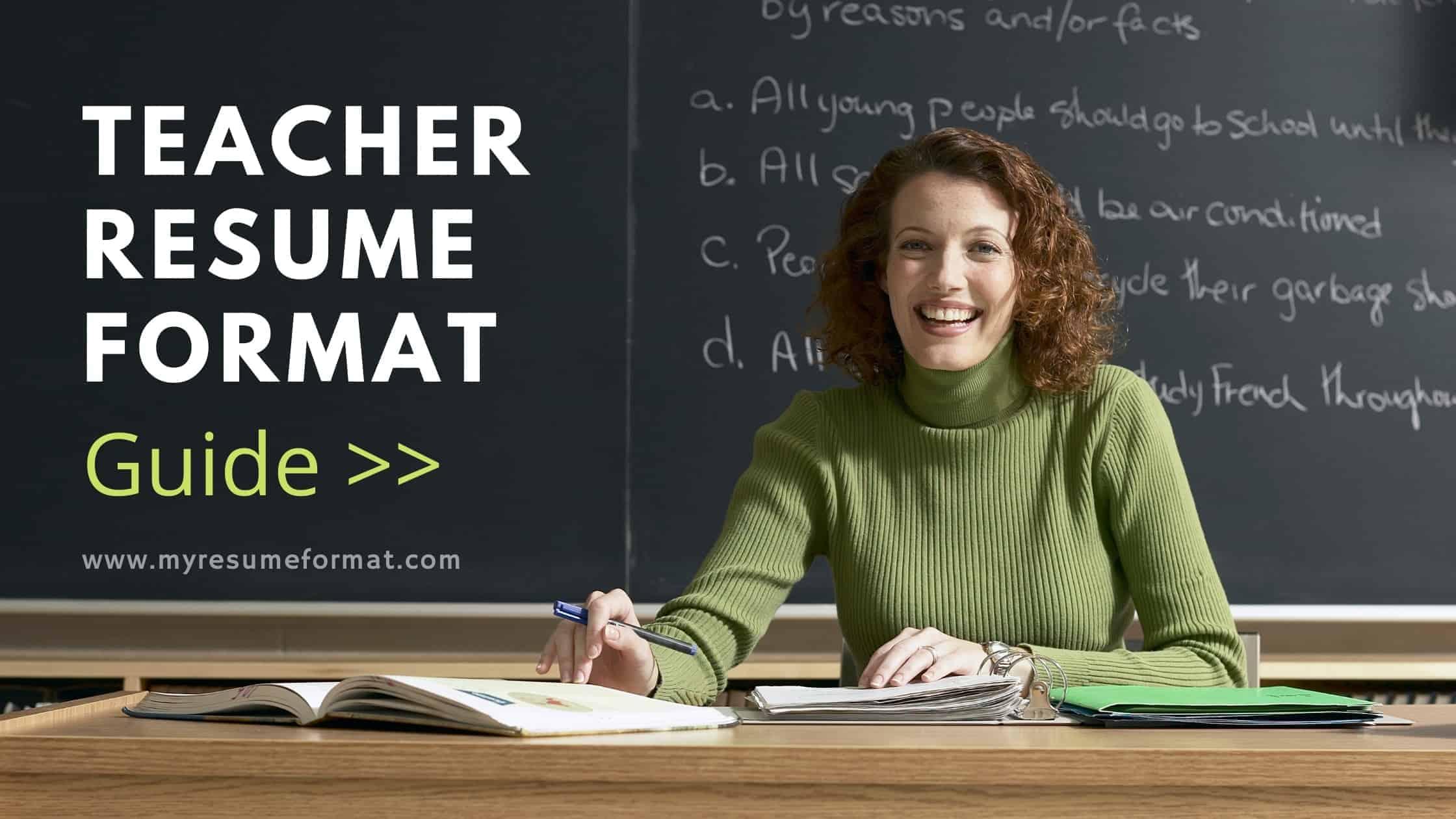 Teacher Resume Format