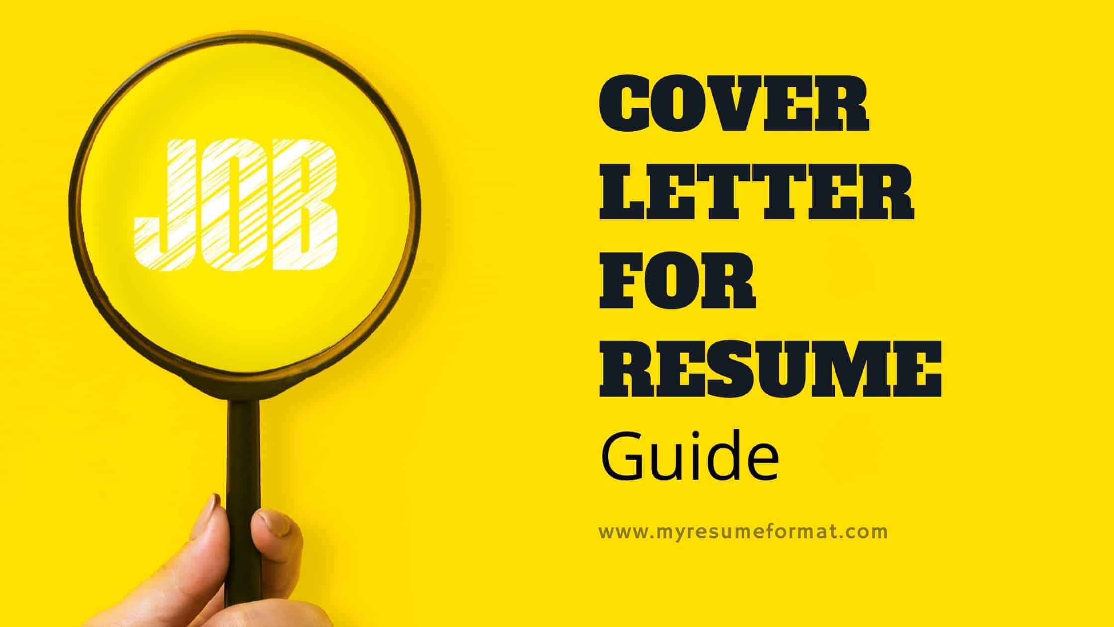 cover letter for job resume