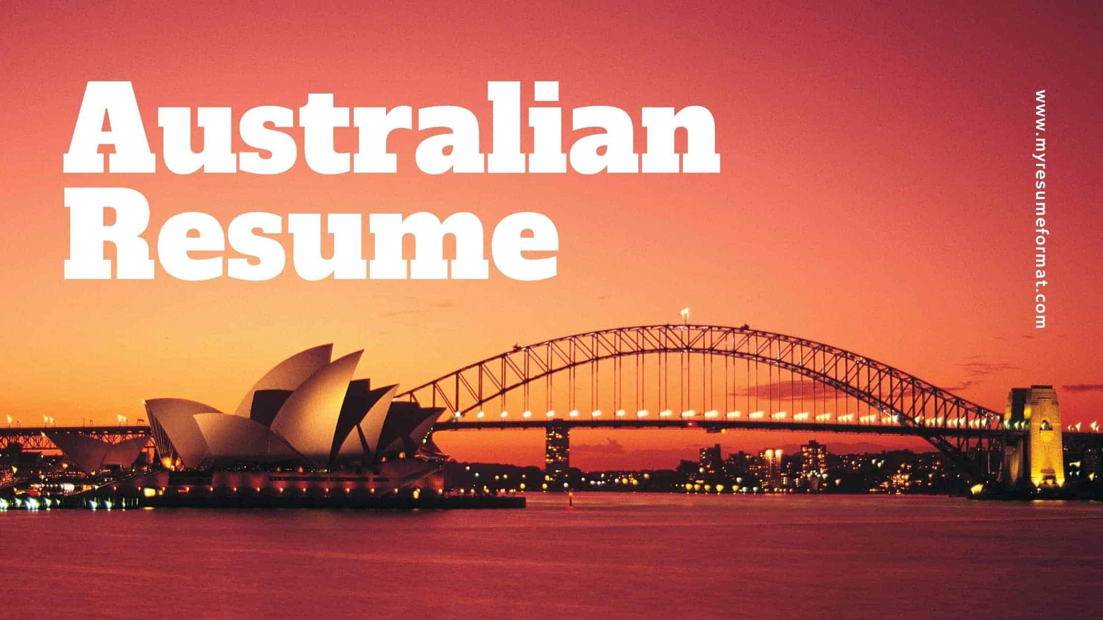Australian Resume tips