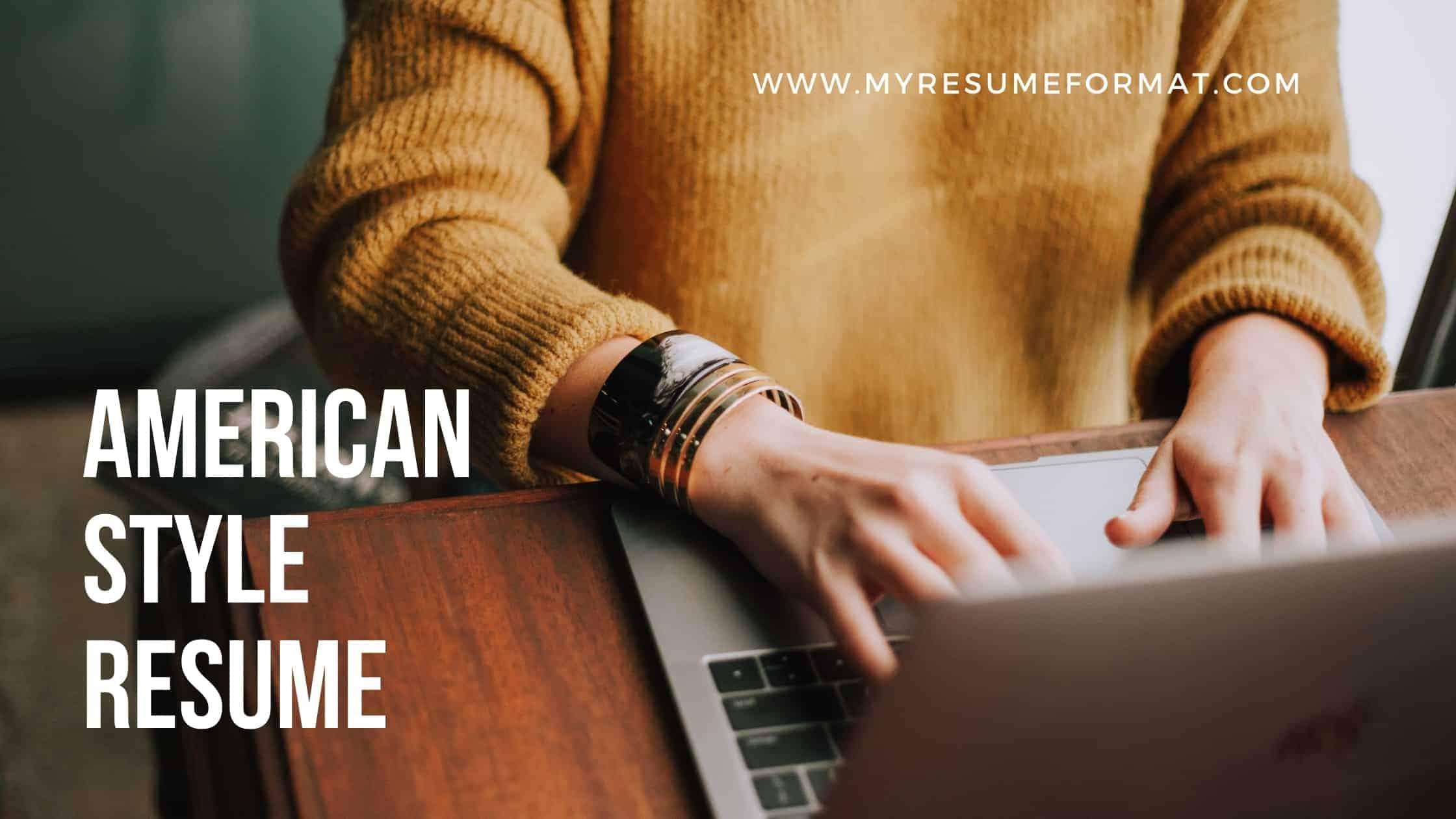 American resume template